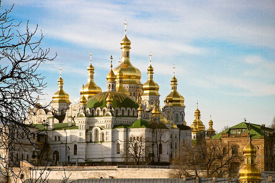 St. Sophia's Cathedral, with its gold and green domes not to be missed while in Kiev